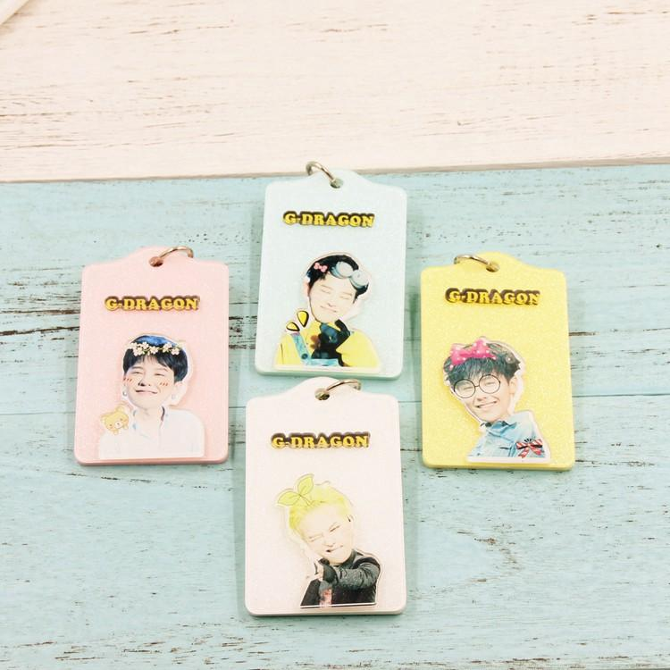 Bigbang Cartoon-Inspired Members Ez-Link Card Holder w/ Keychain Buckle or Lanyard