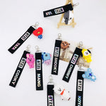 BTS BT21 Keychain Lanyard Name Strip with Cute Character Pendant