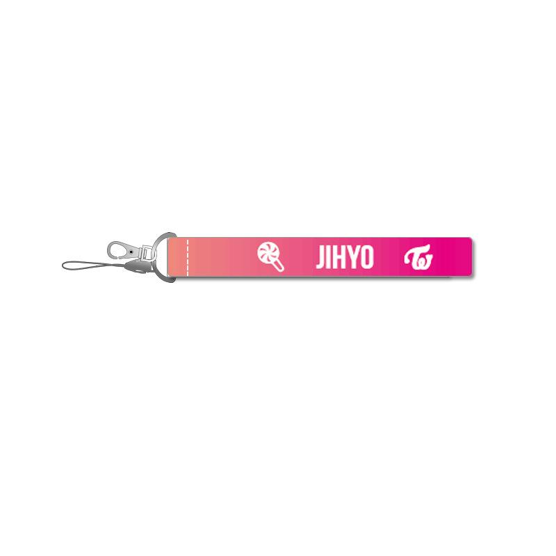 TWICE Pink Name Strip Keychain Lanyard 560275448650#3667178502797