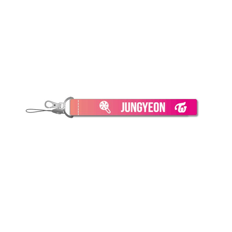 TWICE Pink Name Strip Keychain Lanyard 560275448650#3667178502798