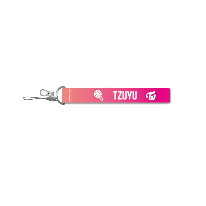 TWICE Pink Name Strip Keychain Lanyard 560275448650#3667178502794
