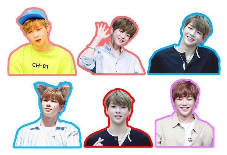 WANNA ONE Daniel Cute Photo Stickers for Scrapbook w/ Multiple Designs 560076065823#3662501798810