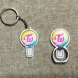 TWICE Candy Bong Lightstick Acrylic Keychain and Phone Ring