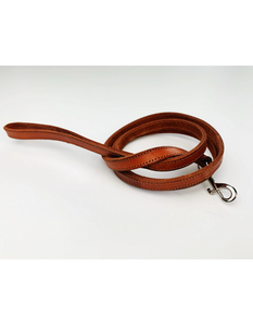 xs/small pet leash - chestnut