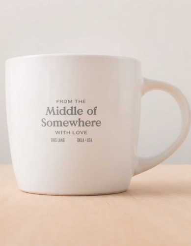 this land: middle of somewhere mug