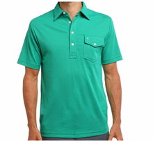 criquet: performance pique players shirt - august green