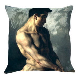 Nude Printed Art Cushion