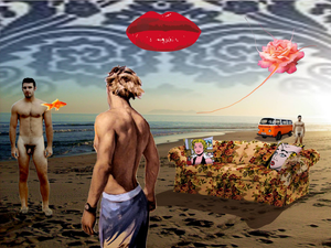 "Collage ""Sandy Babe"""