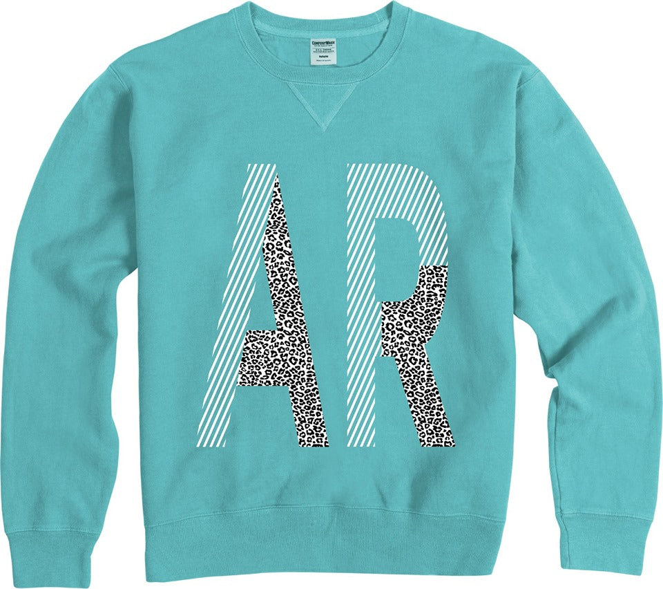 Teal AR Printed Sweatshirt