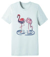 August Bleu Cotton Candy Flamingo Tee