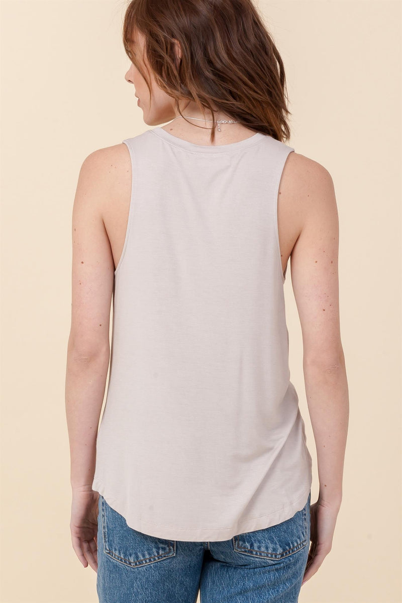 Summer Days Tank Top- Gray