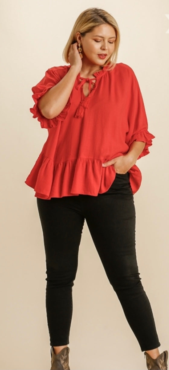 Hot Line Linen Blouse