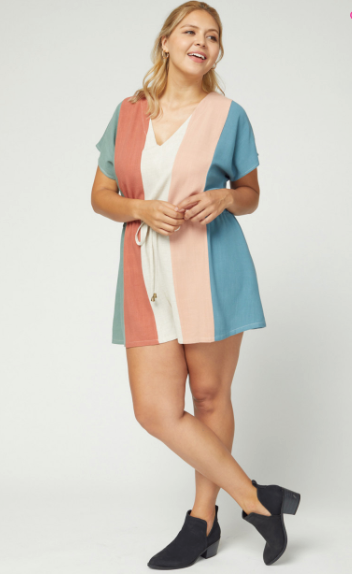 Del Ray Striped Romper
