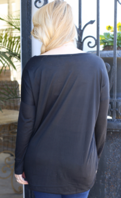 Burbank Knit Black Tunic