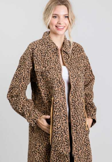Control Myself Leopard Corded Jacket