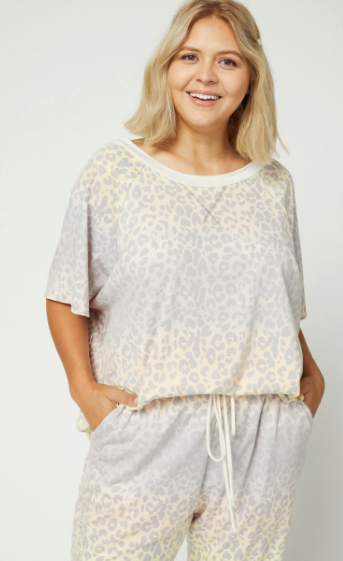 Lennon Rainbow Leopard Top
