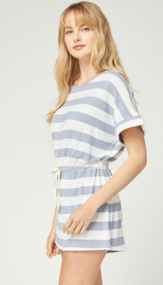 Flip Side Striped Romper