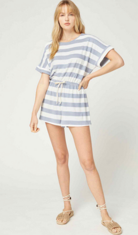 Aim To Please Striped Romper