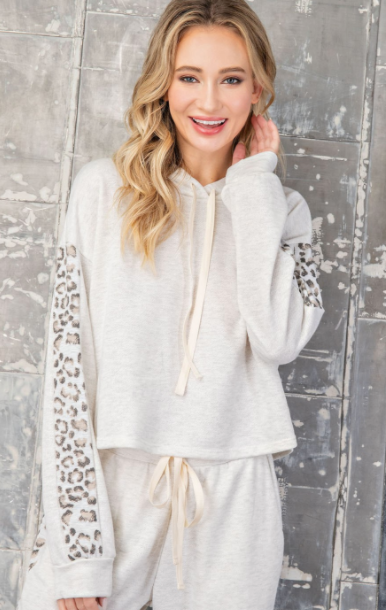 Lights Out Leopard Sweatshirt