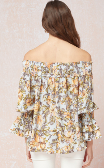 Spring Flowers Printed Top
