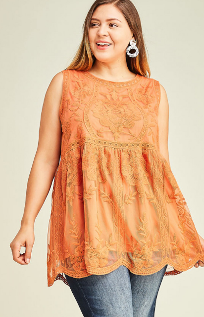 Sundown Embroidered Top