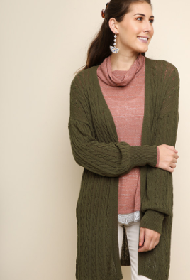 Tulips Knit Cardigan