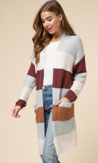 Woodlands Color Block Cardigan