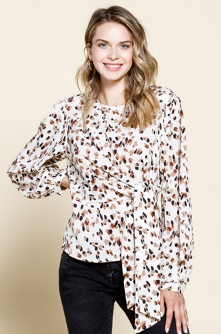Foil The Plan Polka Dot Blouse