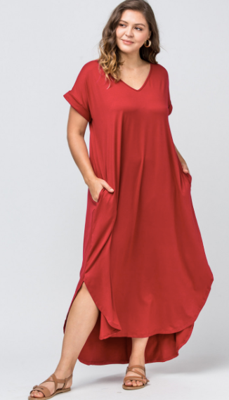 Madison Maxi Dress- Ruby
