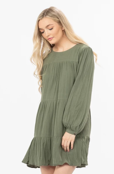 Fall In Love Olive Dress