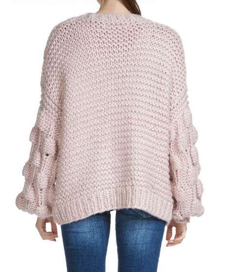 Bubble Gum Knit Cardigan