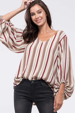 Hit The Road Striped Cardigan
