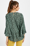 Sagely Dot Blouse