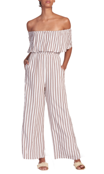 Fray of Sunshine Striped Jumpsuit