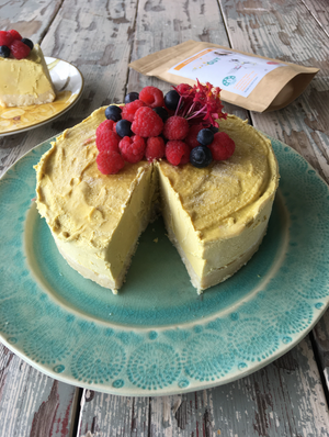 Golden Mango Raw Cheesecake
