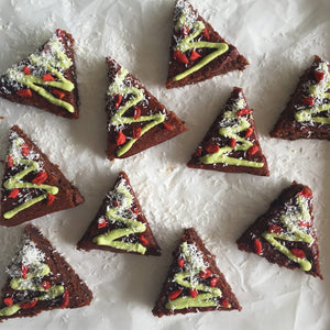CHRISTMAS TREE FUDGE BROWNIES