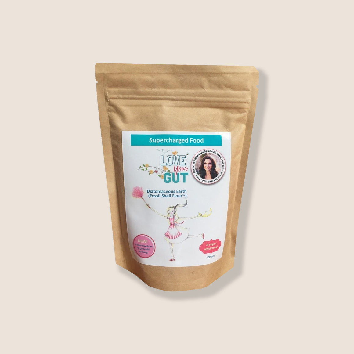 SUPERCHARGED FOOD LOVE YOUR GUT POWDER 100G BAG