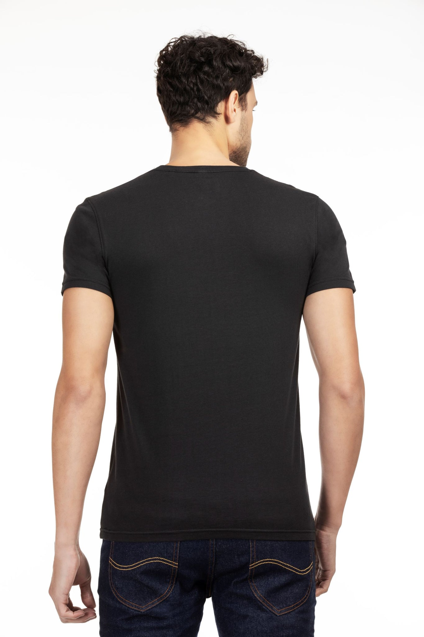 100% Organic Cotton Round Neck T-shirt (Bare Black)