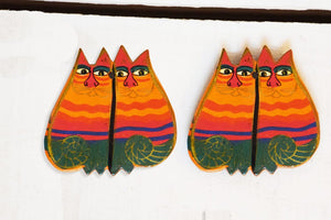Chatori Billi Earrings Hand Painted by Women Artisans
