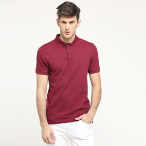 100% Organic Cotton Polo Neck T-Shirts - Classic Value Pack of 3 in Maroon, Black and Orange