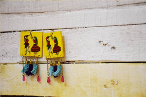 Dandiya Dangler Earrings Hand Painted by Women Artisans