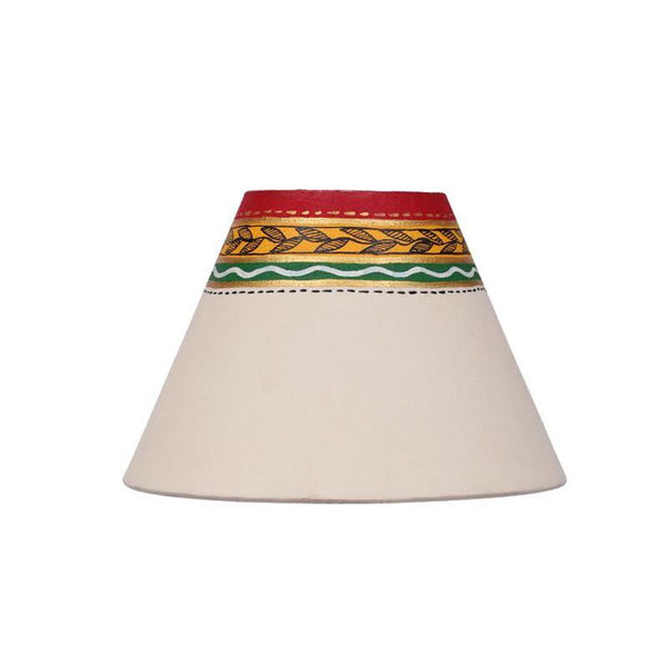 Terracotta Matki Table Lamp (Yellow) created by Traditional Artisans
