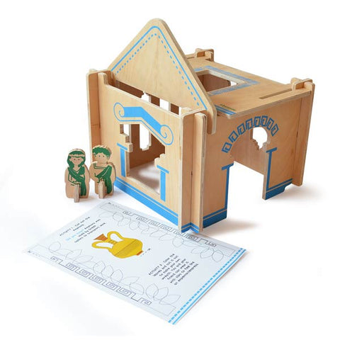 DIY Build-A-House Wooden Dollhouse Toy Set (Greek)