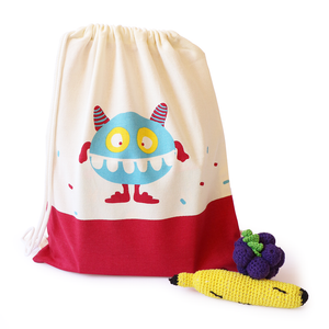 Treasure Trove Canvas Drawstring Toy Bag for Toddlers (Squasher)