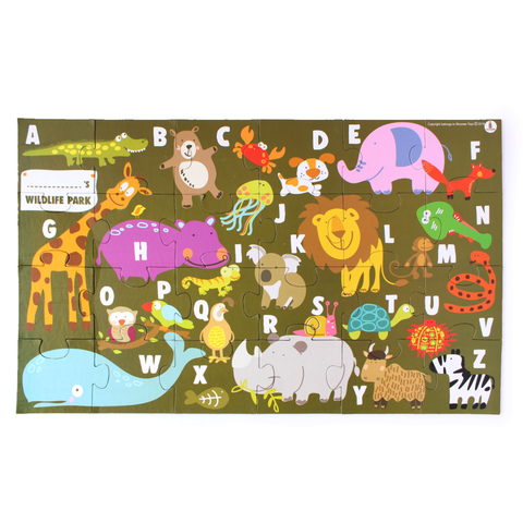 Animal Alpha Puzzle - 100% Safe, Natural & Eco-Friendly