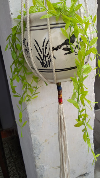 Cotton Strings - Macrame Plant Holder Handmade by Women Artisans