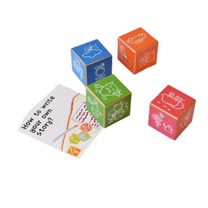 Wooden Tell Me A Story Cubes (Set of 4)