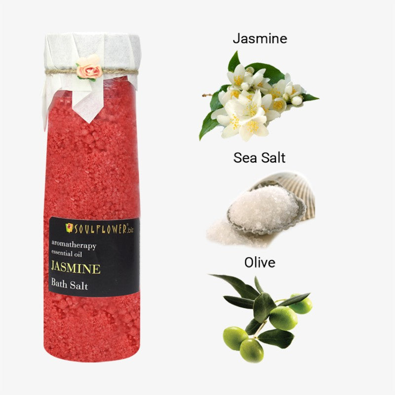 Soulflower Jasmine Bath Salt, 500g