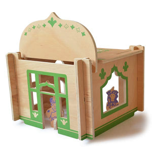 DIY Wooden Build-A-House Dollhouse Toy Set (Persian)