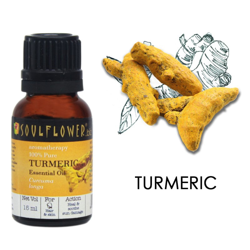 Soulflower Turmeric Essential Oil, 15ml